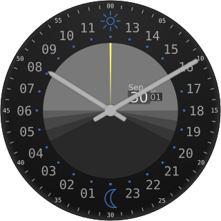24-Hour '12'-at-the-top Analog Clock—Steve Pomeroy